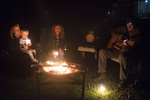 guitars sparklers and marshmallows by the fire pit with our american guests