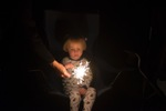 sparklers always a winner with the kids